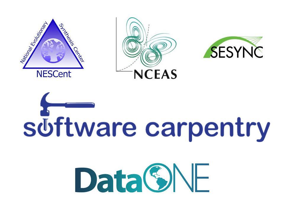 Logos of groups running training initiatives